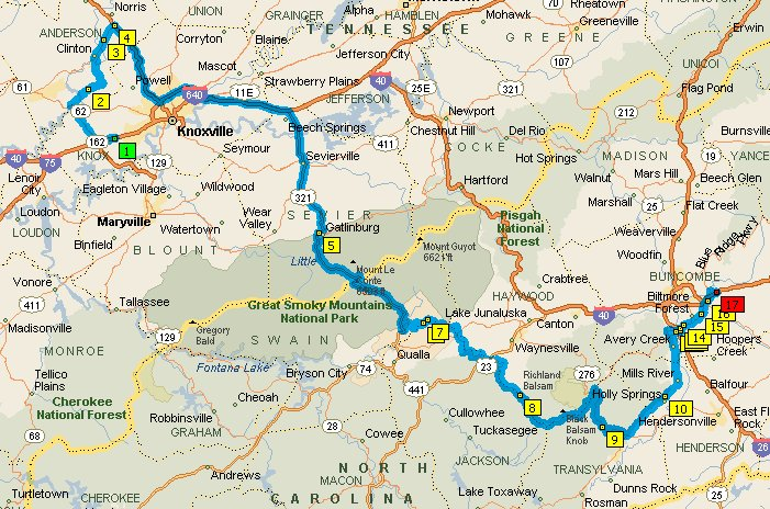 Day 16 tuesday 4 may knoxville tn to asheville nc for Miles motors asheville nc